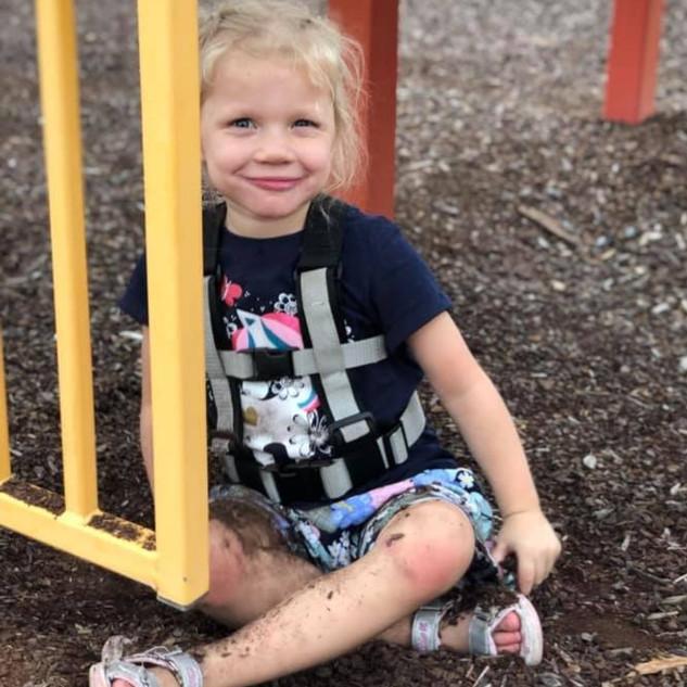 Ollie at playground