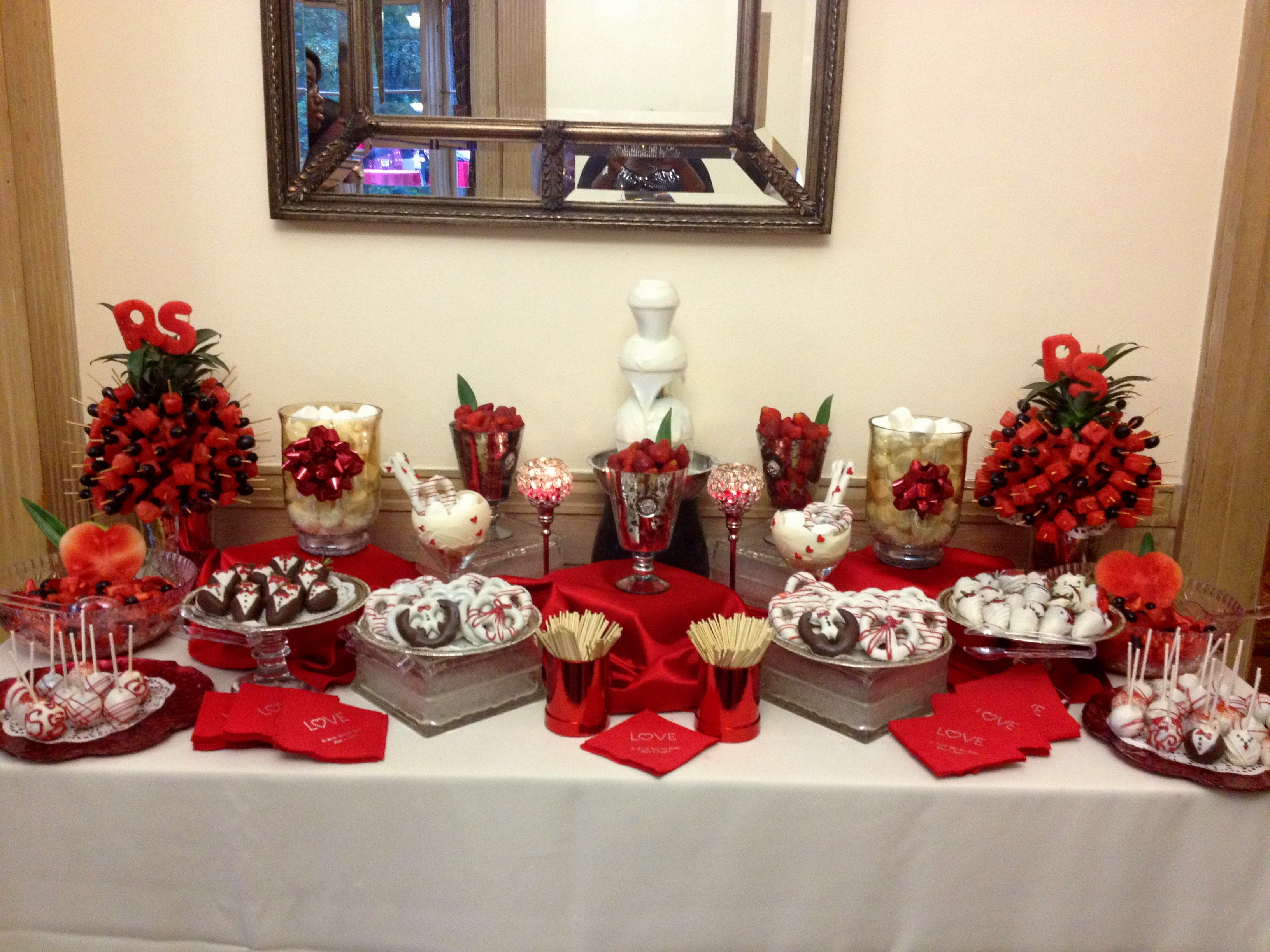 Fruit & chocolate displays