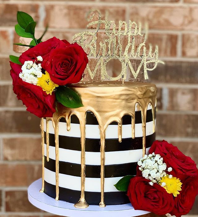 A surprise birthday cake for a sweet mom