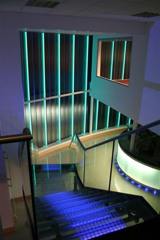 Topglass Factory Office Illuminated Glass