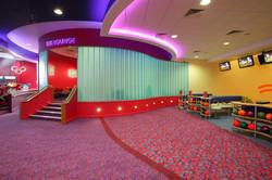 Glowing glass wall AMF Bowling High Wycombe