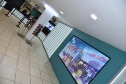 Nottingham Theatre Internally Lit Glass Screen8
