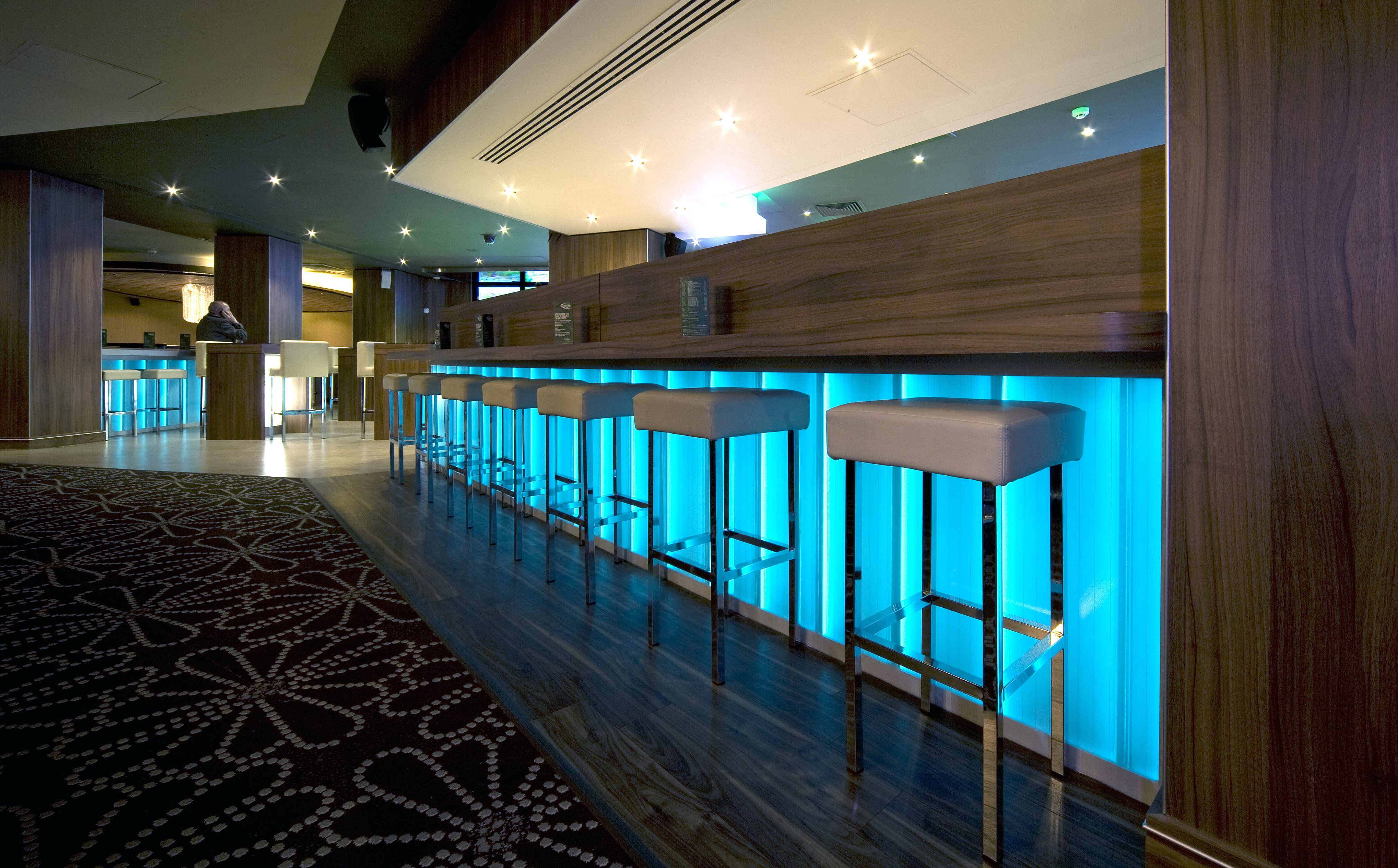 Casino at the Empire Illuminated Glass Bar