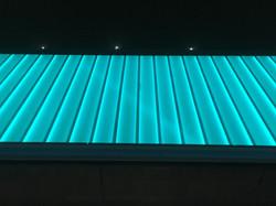 Glowing Aqua Glass West Lancs Youth Zone