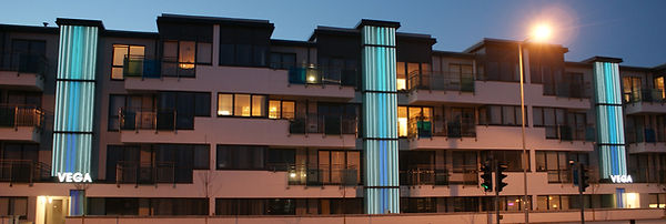 VEGA Kingsway Hove stairwell glass facade by Lumaglass