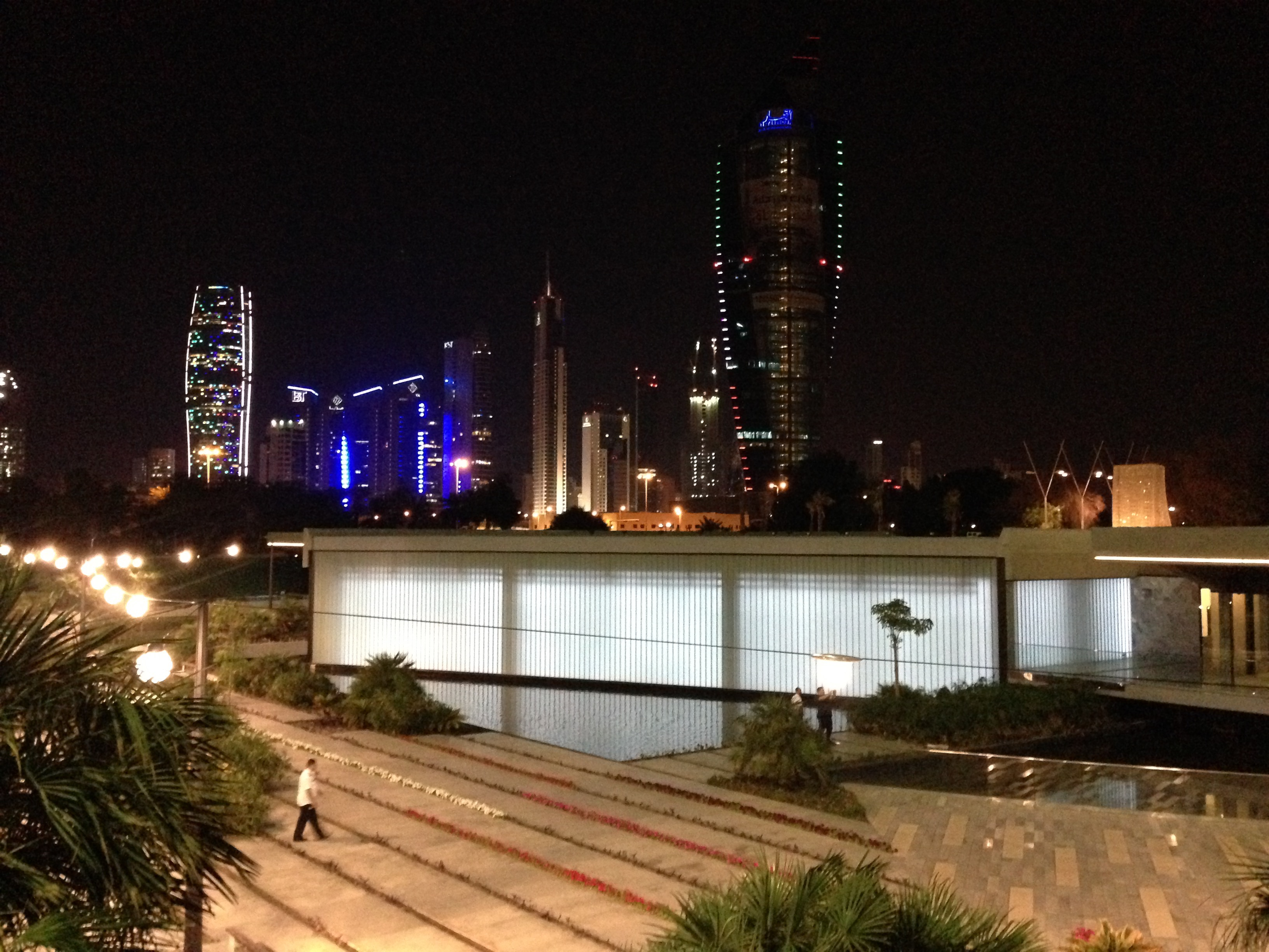 Al Shaheed Park Kuwait Illuminated White Glass6