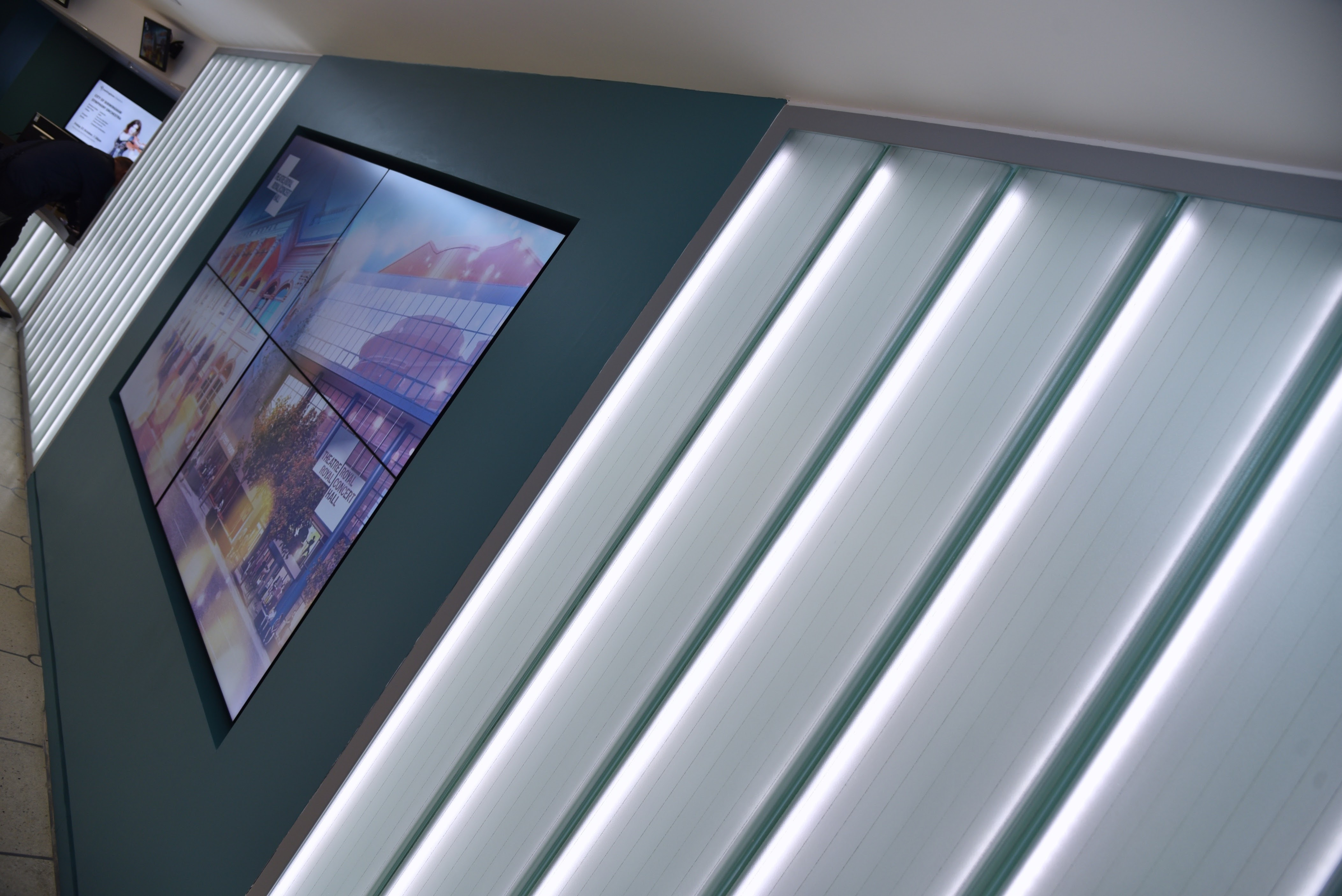 Nottingham Theatre Internally Lit Glass Screen