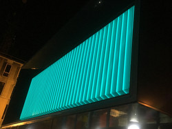 Glowing Aqua Glass West Lancs Youth Zone3