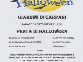 Festa di Halloween a Carpani!