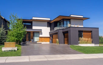 Luxury house at sunny day in Calgary, Ca
