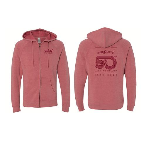 Adult Echo Center Zip up hoodie