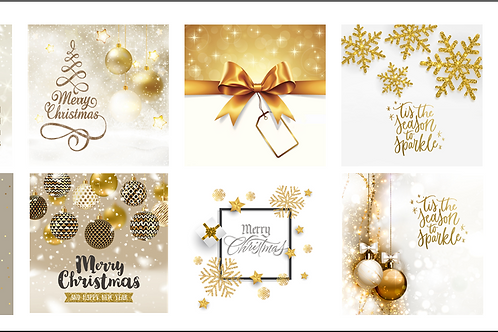 Xmas Box Set D - Gold and White