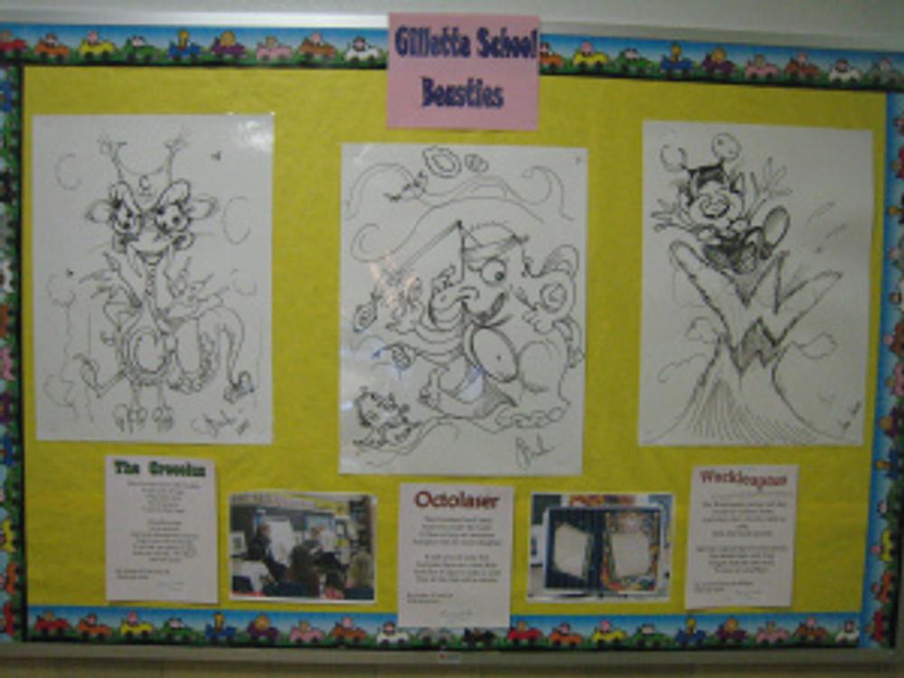 Beastie hall wall display
