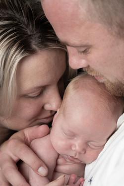 Baby Amy, Mama Edith en Papa Peter
