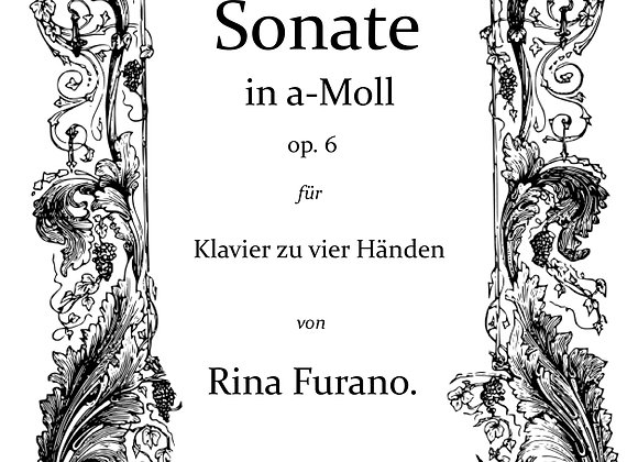 Sonata in A Minor for Piano Four-Hands, op. 6