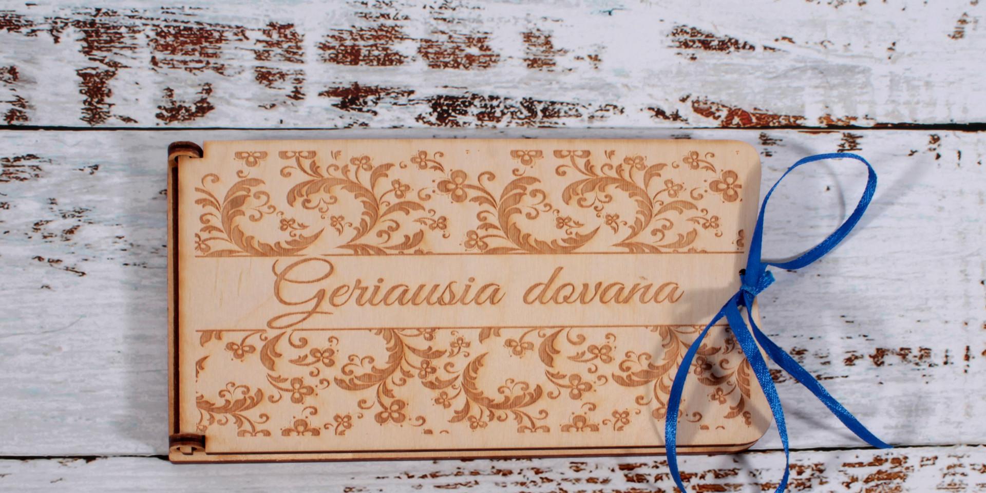 medinė dėžutė vokasMedinė dėžutė/vokas su įvairiais užrašais