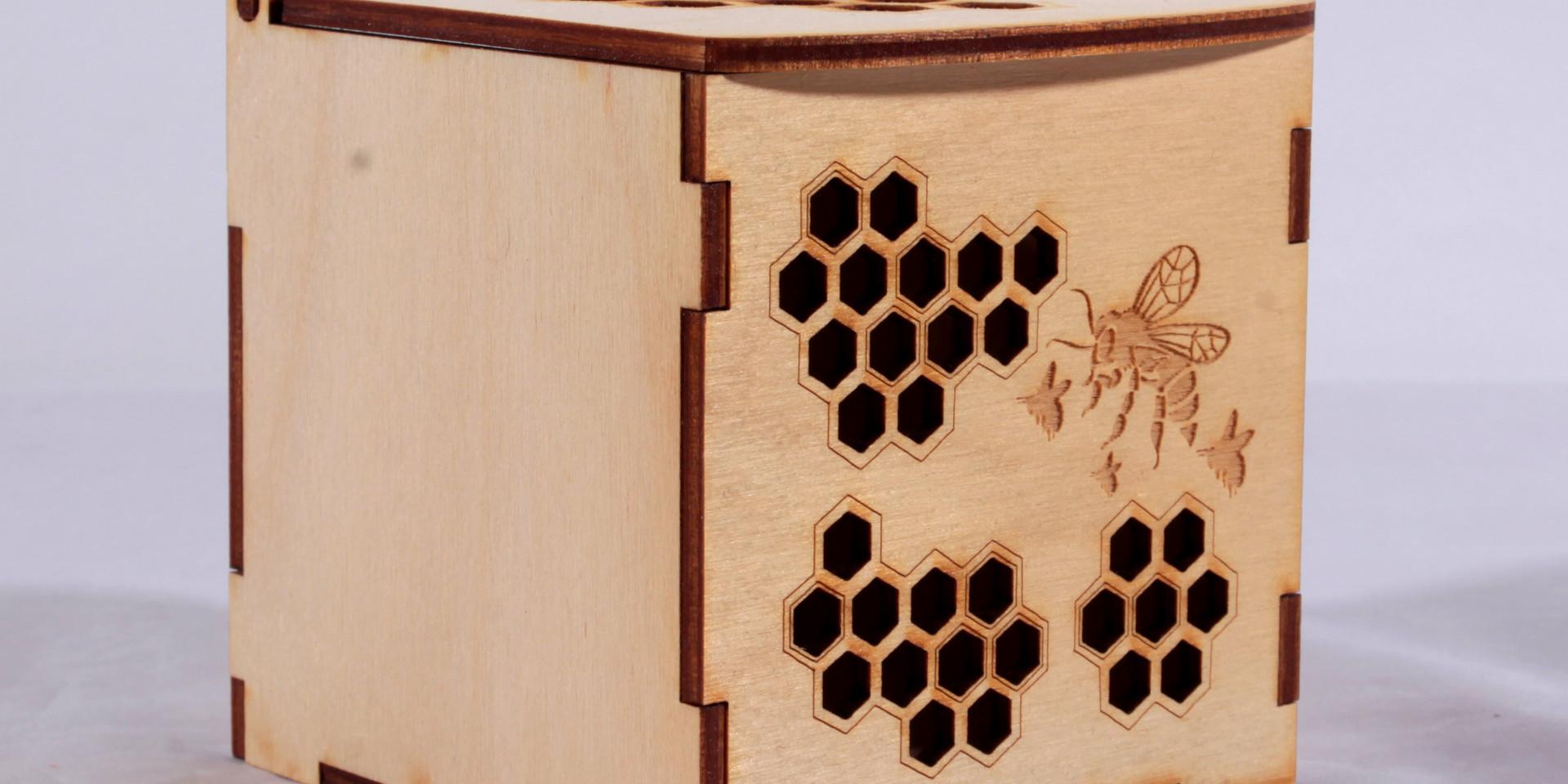 medinė dėžutė/ korys medaus stiklainiams (galimi įvairūs dydžiai)