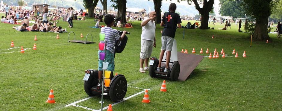 begleiteter Hindernisparcours für Segwayfahrer