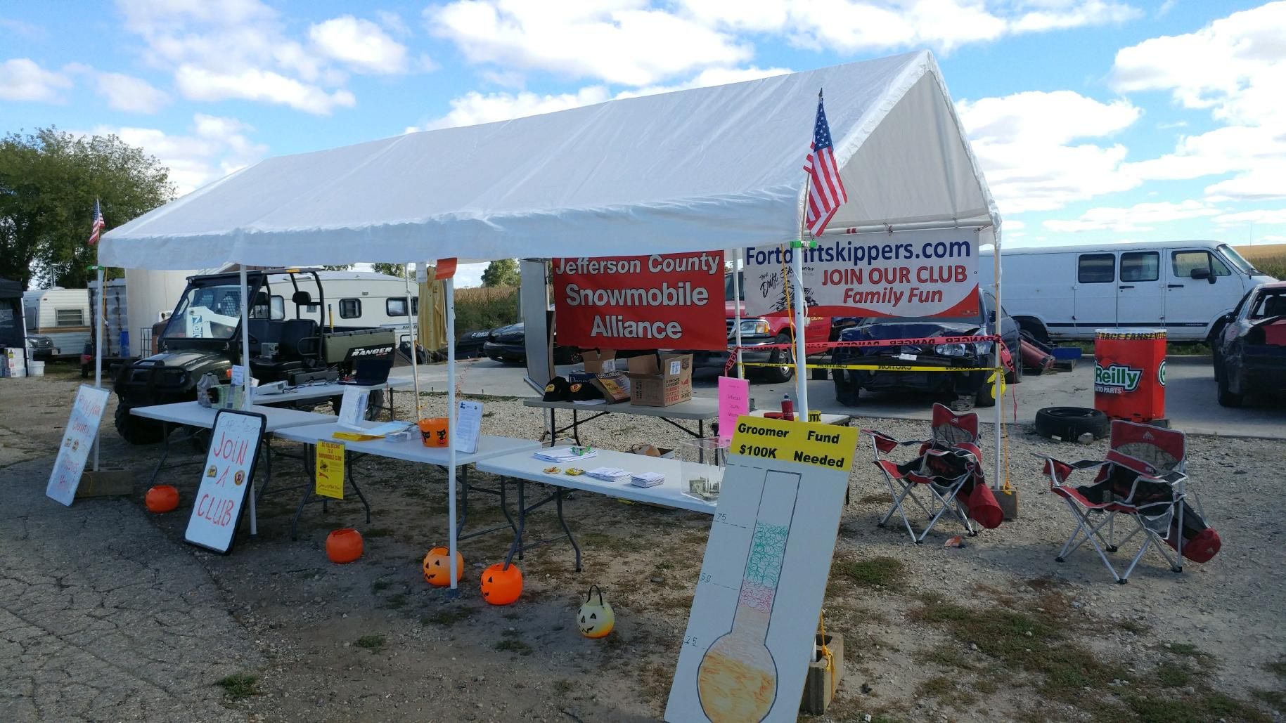 The tent setup at Jefferson County Swap Meet held at the Jefferson Speedway September 30, 2017.