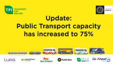 Passenger Capacity on Public Transport to Increase to 75%