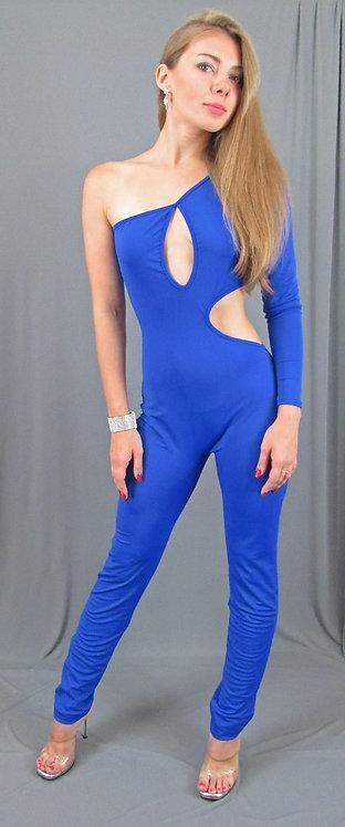 Blue One Shoulder BodySuit - 6580b