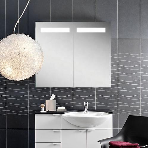 Hotel Mirrored Bathroom Wall Cabinets