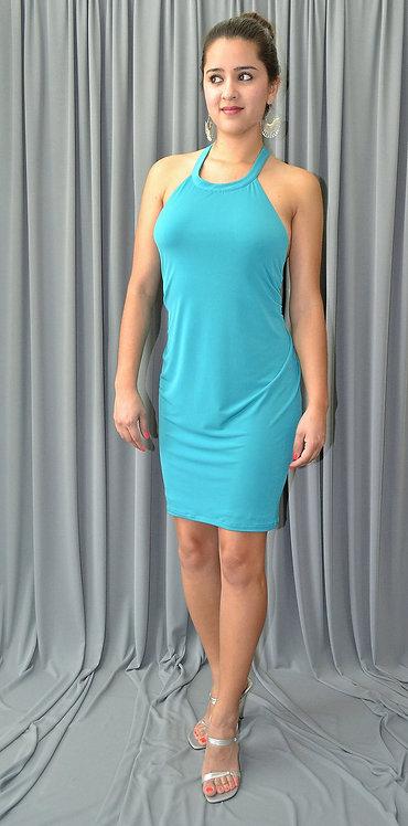 Short Green Dress - 6002