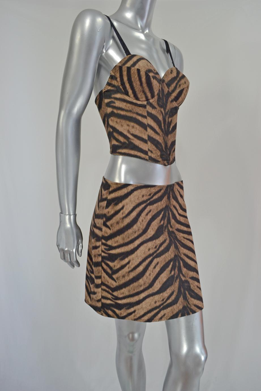 Animal Print Skirt and Top