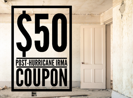 $50 Off Post-Hurricane Irma Discount for Florida Residents