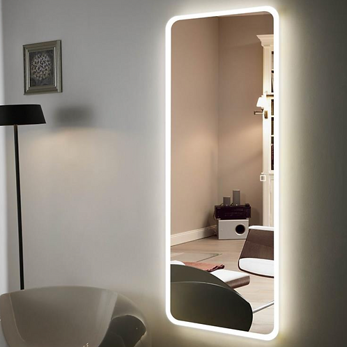 Bathroom Frameless Lighted Full Length Mirror