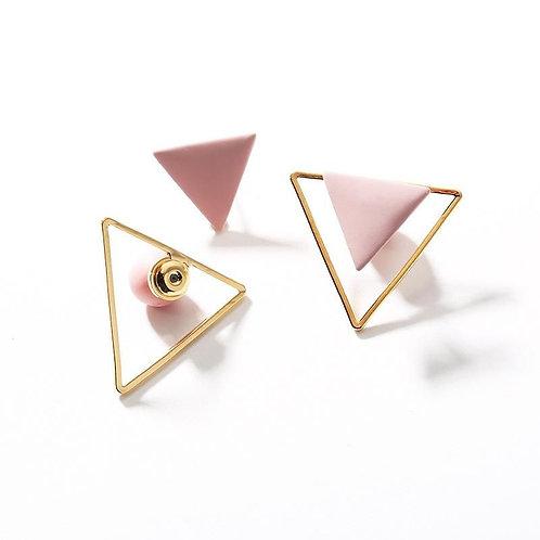 Detachable geometric earring