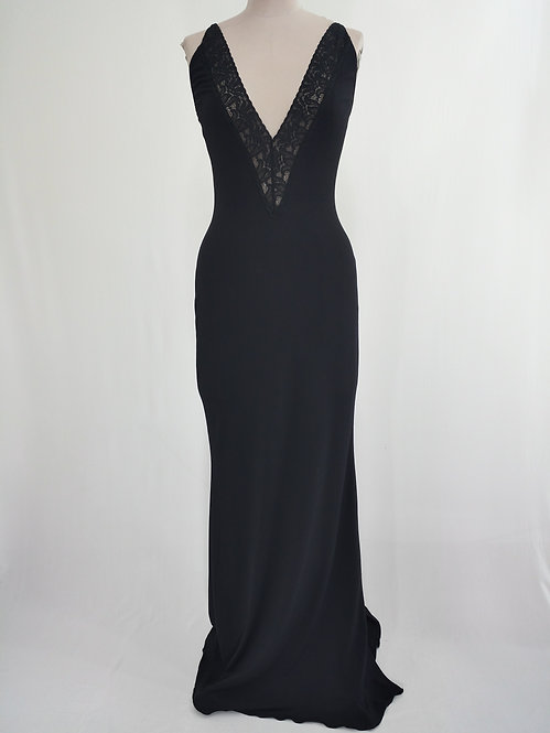 Low Back Elegant Black Dress