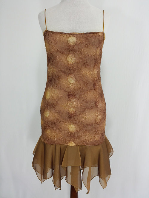 Gold Lace Dress - 5232