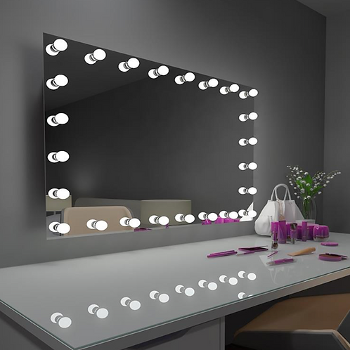 LED Makeup Lighted Hollywood Mirror