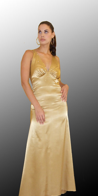 Gold Cocktail Dress - 4265