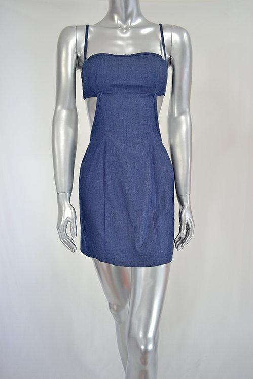 Denim Short Dress - 3362