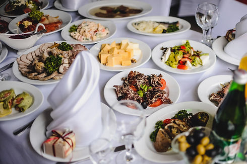 table-with-silver-glass-stemware-restaur