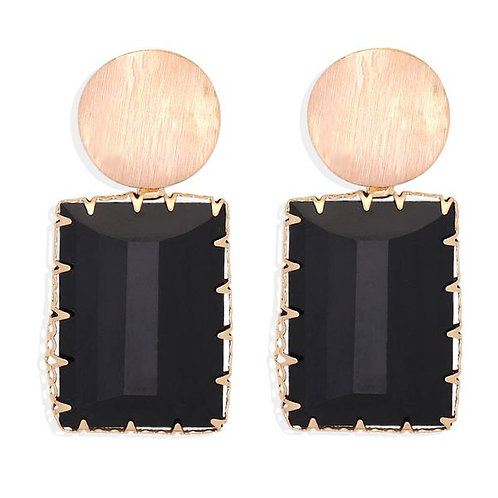 Queen collection-Vintage square earring