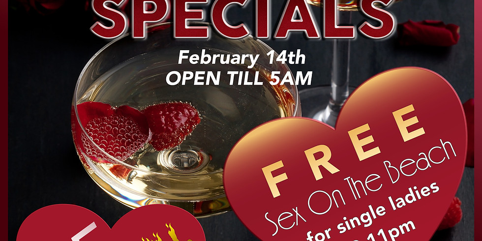 St. Valentine's Day On South Beach. Free drinks for single ladies.
