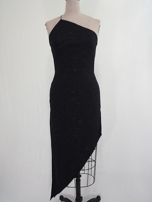 Black Metallic Sparkly Dress - 4054