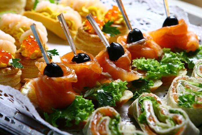 Оформление банкетных блюд