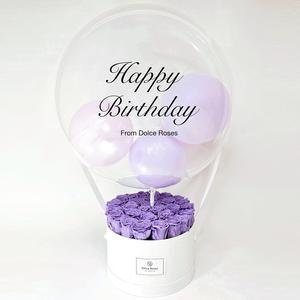 Preserved roses with Custom  Balloon