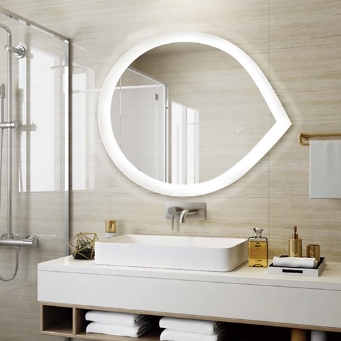 Irregular LED Lighted Bath Mirrors