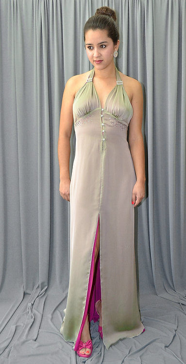 Green & Pink Gown - 44161