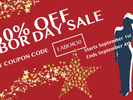 Labor Day Sale: Save 30% Shopping Online