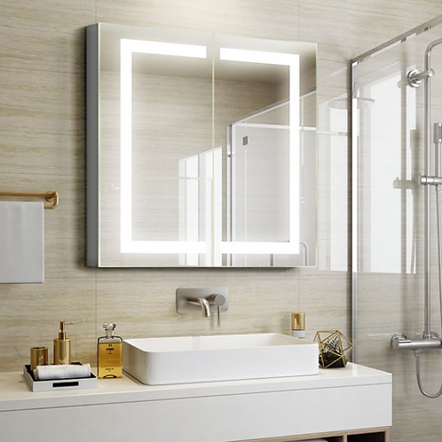 Modern LED Lighted Mirror Cabinet