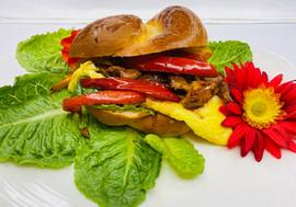 Omelette Sandwich with Chicken Teriyaki