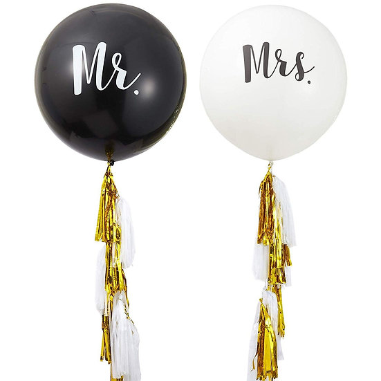 """Helium Personalized Balloon 32"""" with Tassels"""