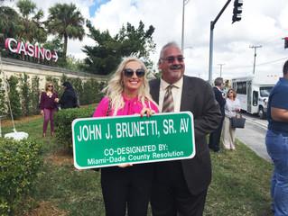 The Opening of John J. Brunetti, Sr. Ave in Hialeah, Miami-Dade