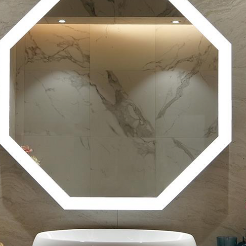 Wall Bathroom Framed Lighted Mirror